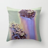 Rainbow Corrosion  Throw Pillow
