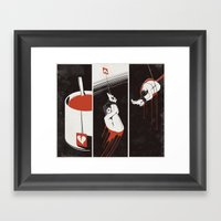Lust Drop Framed Art Print
