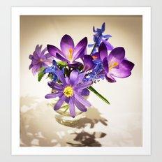 Flowers of love Art Print