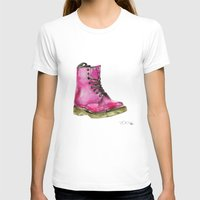 Dr Martens Womens Fitted Tee White SMALL