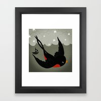 Swallow Framed Art Print