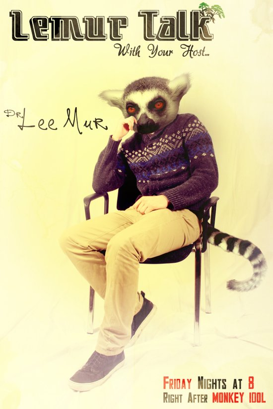Lemur Talk Canvas Print