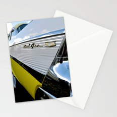 Yellow Classic American Muscle Car Belair  Stationery Cards