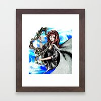 Harpist Framed Art Print