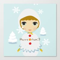 Snow Girl Canvas Print