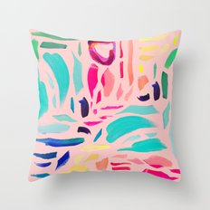 Brush Gems 1 - A deconstructed painting Throw Pillow
