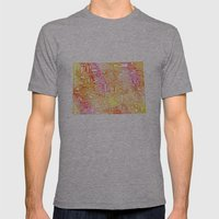 Typographic Colorado - orange watercolor Mens Fitted Tee Athletic Grey SMALL