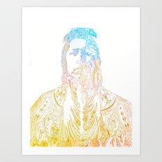 motif of a portrait II Art Print