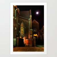 Stained Glass Starry Nig… Art Print