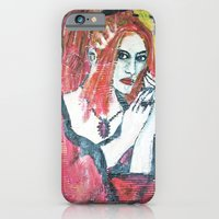 iPhone & iPod Case featuring RED HOT GOTH CHICK by JANUARY FROST
