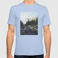 Rocky Mountain Creek Mens Fitted Tee Tri-Blue SMALL