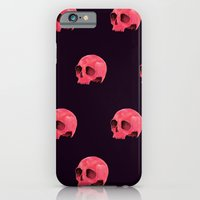 iPhone & iPod Case featuring Pink Skull Pattern by Catalin Anastase