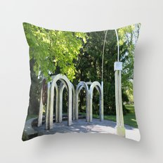 Small Park with Arches III Throw Pillow