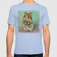 Hamster Mens Fitted Tee Tri-Blue SMALL