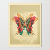 Butterfly Rorschach Canvas Print