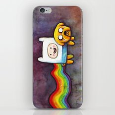 Nyan Time with Jake and Finn iPhone & iPod Skin