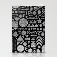 Modern Elements With Bla… Stationery Cards