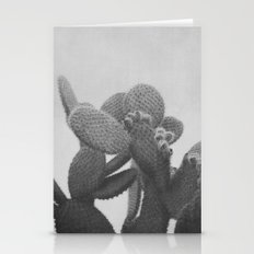 BLACK AND WHITE CACTUS Stationery Cards