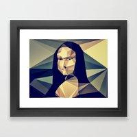 :: mona lisa :: Framed Art Print