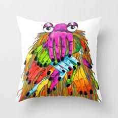 Imaginary Friend Monster Throw Pillow