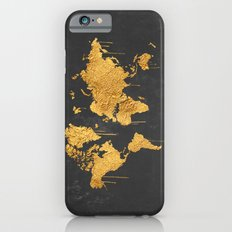 Gold World Map iPhone 6 Slim Case