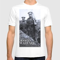 Modern Warfare - 3D Tren… Mens Fitted Tee White SMALL
