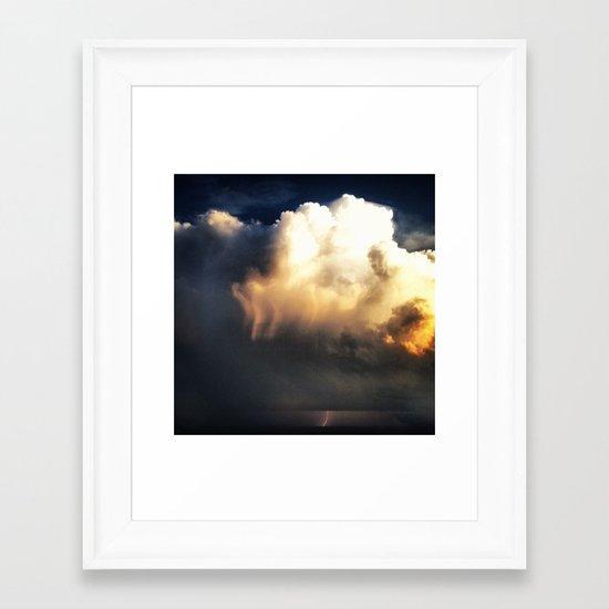 Lighting Strikes Framed Art Print