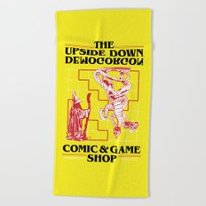 The Upside Down Demogorgon - Stranger Things Have Happened Beach Towel