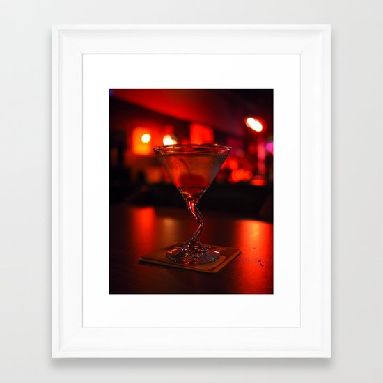 Vodka-based vision Framed Art Print