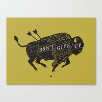 Don't Give Up - Bison - … Canvas Print