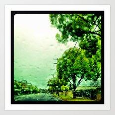 A rainy day in Orange County. Art Print