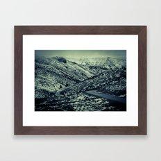 partial snow Framed Art Print