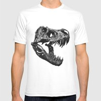 T Rex Mens Fitted Tee White SMALL