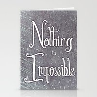 Nothing Is Impossible Mo… Stationery Cards