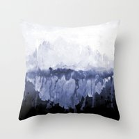 Paint 5 abstract water ocean arctic iceberg nature ocean sea abstract art drip waterfall minimal  Throw Pillow