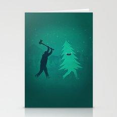 Funny Christmas Tree Hun… Stationery Cards