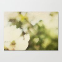 Canvas Print featuring Bokeh Hearts Vintage by Andrea
