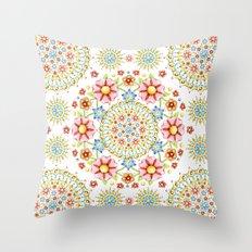 Flower Crown Bijoux Throw Pillow