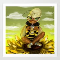 Bug Girls: Bee Snack Bre… Art Print