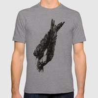 Dark Wings Mens Fitted Tee Athletic Grey SMALL