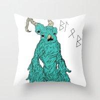 THE BLOB Throw Pillow