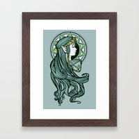 Zelda Nouveau Framed Art Print