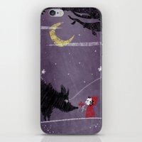Little Red and Wolf iPhone & iPod Skin