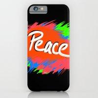 Peace (retro neon 80's style) iPhone 6 Slim Case