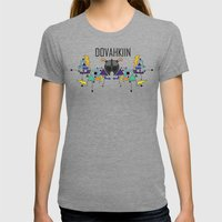 Skyrim: The Dovahkiin - BLUE Womens Fitted Tee Tri-Grey SMALL