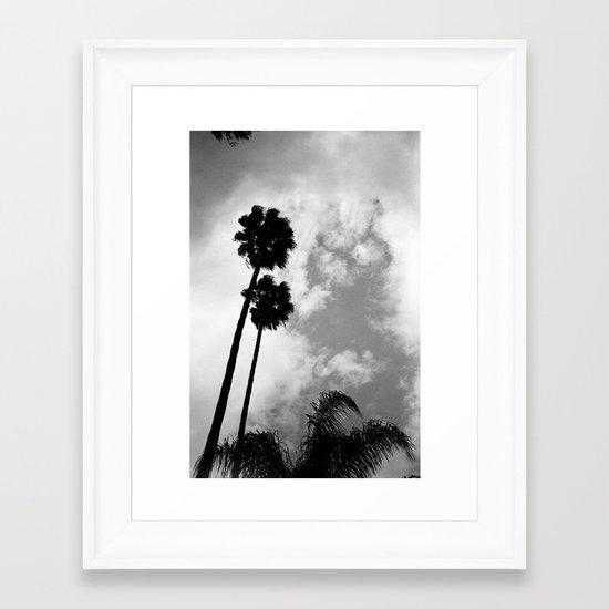 Twin Palms Framed Art Print