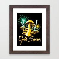 Gold Saucer Framed Art Print