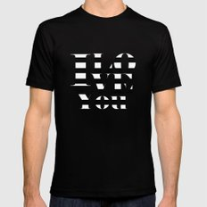 I love you SMALL Black Mens Fitted Tee