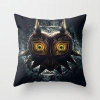 Epic Pure Evil Of Majora… Throw Pillow