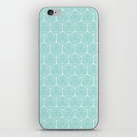 Icosahedron Seafoam iPhone & iPod Skin